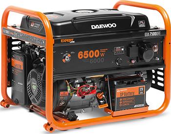 Электрический генератор и электростанция Daewoo Power Products GDA 7500 DFE генератор бензиновый daewoo gda 6800