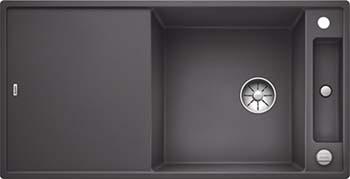 Кухонная мойка BLANCO AXIA III XL 6 S InFino Silgranit темная скала ( доска стекло) 523511 кухонная мойка blanco axia iii xl 6 s f infino silgranit белый доска стекло 523529