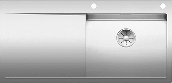 Кухонная мойка BLANCO FLOW XL 6S-IF нерж. сталь зеркальная полировка с клапаном-автоматом 521640 мойка кухонная blanco elon xl 6 s шампань с клапаном автоматом 518741