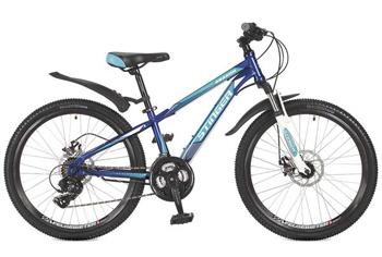 Велосипед Stinger 24 SHD.ARAGON.14 BL7 24'' Aragon 14'' синий велосипед stinger valencia 2017