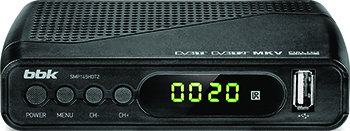 TV приставка DVB-T2 BBK SMP 145 HDT2 тёмно-серый bbk smp 132 hdt2 dark grey
