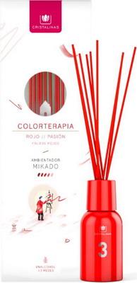 Ароматический диффузор CRISTALINAS Mikado Colorterapia красный с ароматом фиалки125 мл