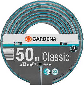 Шланг садовый Gardena Classic 13 мм (1/2'')  50 м 18010-20 катушка со шлангом и фитингом gardena 50 classic 02691 20