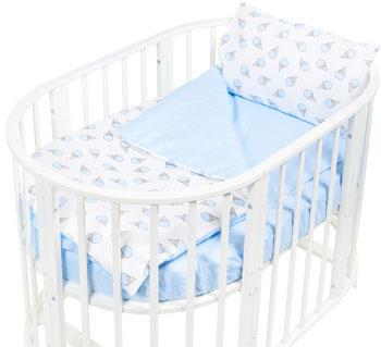 Комплект постельного белья Sweet Baby Yummy Blu (Голубой) в круглую/овальную кровать 4 предмета