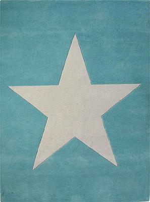 Ковер Lorena Canals шерстяной Звезда Wool Star (голубой) 140*200 WS-2