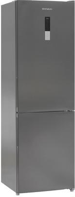 Двухкамерный холодильник Shivaki BMR-1852 DNFX холодильник shivaki bmr 2013dnfw двухкамерный белый