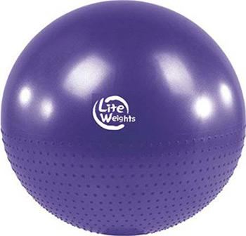 Мяч гимнастический Lite Weights BB 010-30 (75см с насосом фиолетовый) мяч mitre impel 5 bb 1052wg7