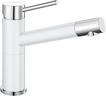 Кухонный смеситель BLANCO ALTA Compact хром/белый  blanco alta compact двухцветный аллюметаллик