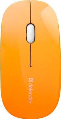 Мышь Defender NetSprinter MM-545 оранжевый белый 52546