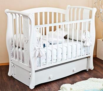 Детская кроватка Можга Красная Звезда Ярослава С551 белая (бабочки)
