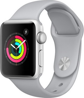 Часы Apple Watch Series 3 38 mm Silver Al Fog (MQKU2RU/A) x match воздушный змей x match ворона 150х100 см