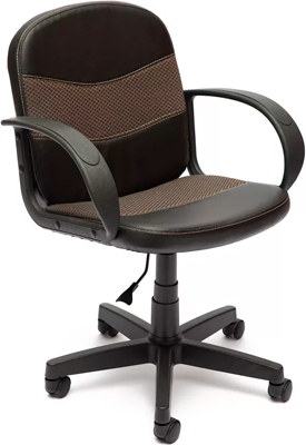 Офисное кресло Tetchair BAGGI (кож/зам/ткань черный/бежевый 36-/12)