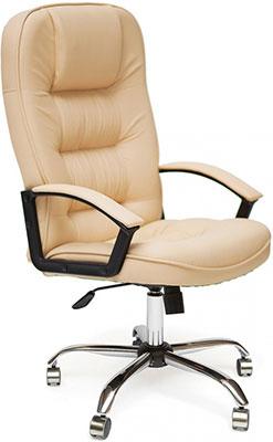 цена на Кресло Tetchair СН9944 (Хром Кож/Зам Бежевый)