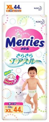 Подгузники Merries Air Through 12-20кг XL  44шт tornet xl 20