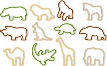 Формочки Tescoma ZOO DELICIA KIDS 12шт 630930 спрей моющий для дезинфекции и ликвидации запахов zoo clean зоосан