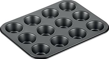 Форма для выпечки Tescoma для 12 мини-кексов DELICIA 26 x 20 cm 623224 форма для хлеба tescoma delicia gold 30 x 16см 623534