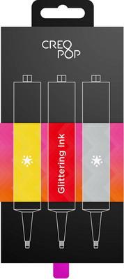 Чернила для 3D ручки с блестками (Gold, Red, Silver) CreoPop SKU 013
