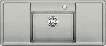 Кухонная мойка BLANCO ALAROS 6S (с черной доской) SILGRANIT жемчужный с клапаном-автоматом InFino 523617 кухонная мойка blanco metra 6s compact silgranit жемчужный с клапаном автоматом