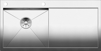 Кухонная мойка BLANCO ZEROX 5S-IF/А (чаша слева) нерж. сталь зеркальная полировка с клапаном-автоматом 521628 franke anx 211 86 нерж сталь чаша слева
