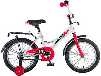 Велосипед Novatrack 14'' STRIKE белый-красный 143 STRIKE.WTR8 novatrack novatrack велосипед 2 х колесный maple 12 зеленый