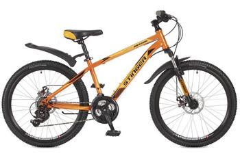 Велосипед Stinger 24 SHD.ARAGON.14 OR7 24'' Aragon 14'' оранжевый stinger stinger детский велосипед 24 latina 14 розовый