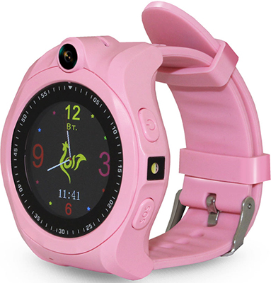 Детские часы с GPS поиском Ginzzu GZ-507 pink 1.44'' Touch nano-SIM 16832 children s smart watch with gps camera pedometer sos emergency wristwatch sim card smartwatch for ios android support english e