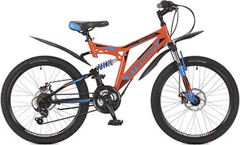 Велосипед Stinger 24'' Highlander 100 D 16 5'' оранжевый 24 SFD.HILAND1D.16 OR7 велосипед stinger highlander d 26 рама 16 оранжевый