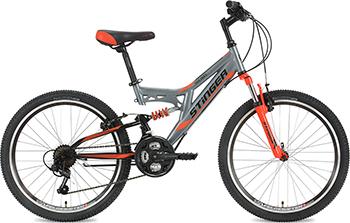 Велосипед Stinger 24'' Highlander 14'' серый 24 SFV.HILANDER.14 GR8 stinger stinger детский велосипед 24 latina 14 розовый
