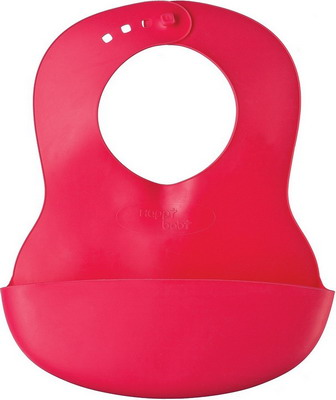 Нагрудник Happy Baby SOFT CHILDREN`S BIB 16000 Red