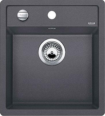 Кухонная мойка BLANCO DALAGO 45 SILGRANIT темная скала с клапаном-автоматом  кухонная мойка blanco dalago 45 grey beige