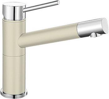 Кухонный смеситель BLANCO ALTA Compact хром/жасмин смеситель alta compact chrome champagne 515319 blanco