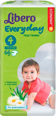 Подгузники Libero Every Day макси 7-18 кг 66 шт. fishing joy every day 480g