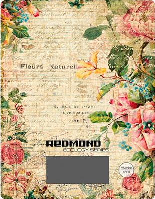Кухонные весы Redmond RS-736 (цветы) электронные кухонные весы redmond rs 736 flower