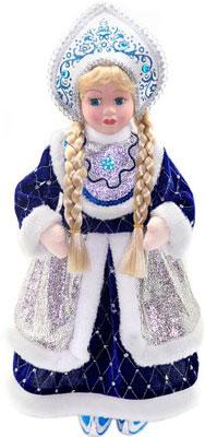 Кукла Новогодняя сказка Снегурочка 43 см под елку синяя (972400) мягкие игрушки новогодняя сказка кукла снегурочка 35 5 см красн бел