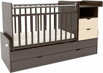 Детская кроватка Sweet Baby Valentino Wenge Avorio (Венге слоновая кость) детская кроватка sweet baby delizia 5 в 1 avorio слоновая кость без маятника