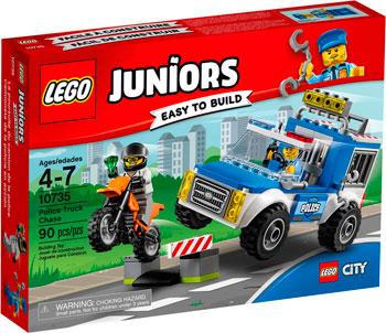 Конструктор Lego Juniors Погоня на полицейском грузовике 10735