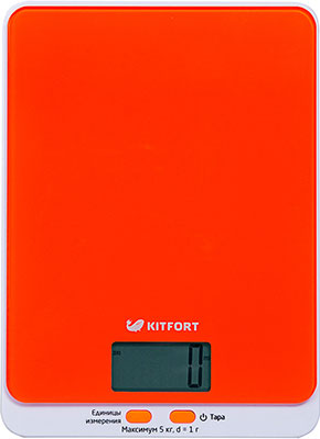 Кухонные весы Kitfort КТ-803-5 оранжевые цена