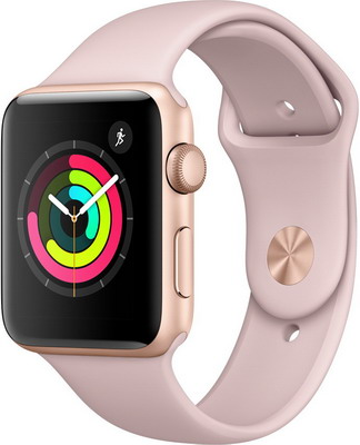 Часы Apple Watch Series 3 42 mm Gold Al Pink (MQL 22 RU/A) умные часы apple watch series 3 42mm gold with pink sand sport band mql22ru a