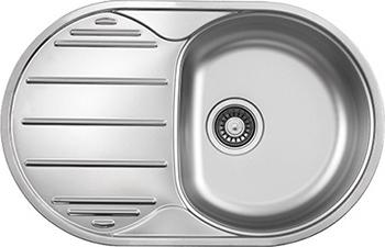 Кухонная мойка Florentina ГЛОРИЯ 780.500 нержавеющая сталь декорированная (чаша справа)