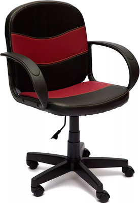 Офисное кресло Tetchair BAGGI (кож/зам черный/бордо 36-6/36-7) кресло tetchair driver кож зам ткань черный бордо 36 6 13
