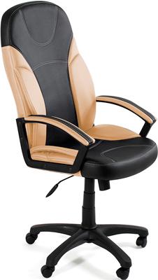 Кресло Tetchair TWISTER (кож/зам черный бежевый PU 36-6/36-34) кресло tetchair runner кож зам ткань черный жёлтый 36 6 tw27 tw 12