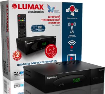 Цифровой телевизионный ресивер Lumax DV 3208 HD цифровой телевизионный ресивер lumax dv 4201 hd