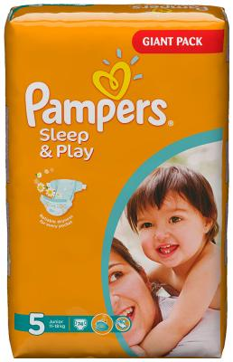 Подгузники Pampers Sleep&Play Junior 11-18 кг 5 размер 74 шт