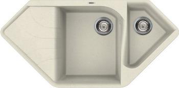 Кухонная мойка Elleci Ego Corner  granitec (62) Bianco Antico LGECOR 62  elleci ego corner vitrotek 86 black lvecor 86