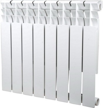 Водяной радиатор отопления SIRA Omega 75 H.500-08 алюминиевый радиатор sira omega as 500 6 секций