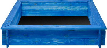 Песочница Paremo Одиссей (4 лавки пропитка подложка) PS 117-02 синяя paremo деревянная песочница синдбад 4 лавки пропитка подложка