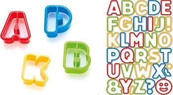 Формочки азбука Tescoma DELICIA KIDS 34шт 630925 противень для выпечки tescoma delicia 46 x 30см 623014