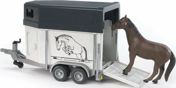 Прицеп-коневозка с лошадью Bruder 02-028 tomy прицеп для перевозки лошадей с лошадью и жеребенком с 3 лет