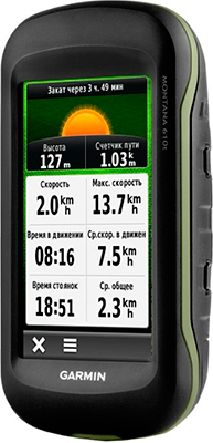 Навигатор Garmin Montana 610 t GPS/ГЛОНАСС topo Russia (черно-серая) skylarpu 2 4 inch lcd screen for garmin edge 820 bicycle speed meter lcd display screen panel repair replacement free shipping
