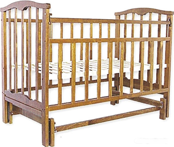 Детская кроватка Агат Золушка-3 классическая  маятник поперечный  Орех valtery кпб heaven семейное